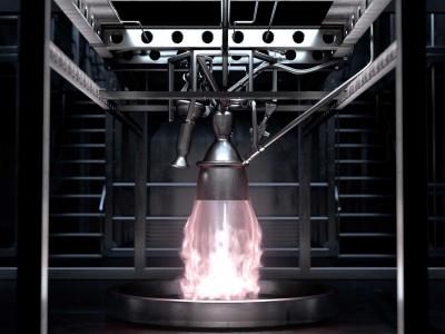 Image de synthèse des premiers essais à feu de prometheus prévus en 2020